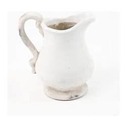 Zentique - Pitcher, Large - This pitcher features a pulled handle with a round base. For decorative purposes only.