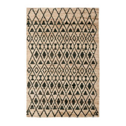 Grandin Road - Isabel Area Rug - 4' x 6' - Khaki and warm brown tones. Hand-knotted from hemp and wool yarns. Uniquely textured and soft underfoot. Nonslip Rug Grip extends the life of the rug (sold separately). Imported. Inspired by Moorish tiles, the Isabel Rug brings natural warmth and texture underfoot. Hand-knotted in a unique blend of hemp and wool yarns, the rug's soft but rugged texture is crafted in a classic Morrocan weave. To achieve the Moorish pattern and fabulous texture, artisans weave two lines of pile and then skip a row. . . . . .