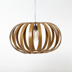 Bentwood Pendant, Oblong - I love the earthy-meets-modern feel of this wooden pendant. It feels substantial and airy all at that same time.