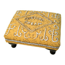 Custard Cream Biscuit Footstool by Floois - Food-related furniture is always a winner with kids — except maybe if it's broccoli shaped.