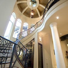 Mediterranean Staircase by Clayburn Development & Pools by Dreamscapes