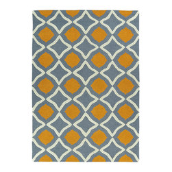Kaleen - Kaleen Trends Collection Trn04-75 8'X10' Grey - Trends is where textiles meet fashion. Modern textile design and todays hottest colors combine to meet the new evolution of this beautiful rug. Each rug is handmade and hand-carved in India of 100% Virgin Wool for added detail and texture.