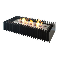 "Ignis - EBG2400 Ethanol Fireplace Grate - Converting your existing wood-burning fireplace into a clean-burning ethanol model is a snap when you've got this EBG2400 Ethanol Fireplace Grate by your side. This grate and burner insert set fits in your existing fireplace and is easy to install in just minutes. This burner allows you to burn eco-friendly ethanol, a fuel that does not release smoke, gases, or soot, and that requires no special ventilation or even a chimney. This 16,000-BTU unit holds seven liters of fuel, and it can burn for up to eight hours after each fill. This makes it ideal for keeping your space toasty warm and deliciously comfortable all night long. Dimensions: Grate: 29 3/4"" x 15 3/4"" x 6 1/2"". Burner: 24 1/8"" x 8 1/2"" x 4 1/2"". Features: Eco-Friendly - doesn't produce any smoke, sooth or dangerous gases. Easy Maintenance - just wipe it with a damp cloth once in a while."
