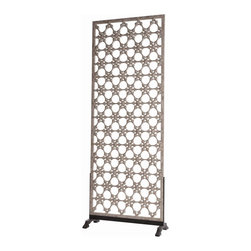 "Arteriors - Clarksdale Screen - Screen dimensions: 101"" (height), 39.5"" (width), 1"" (depth)"