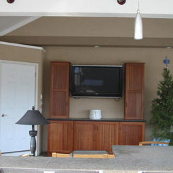 Outdoor Cabinets - An outdoor entertainment section complete with cabinets by Seifert