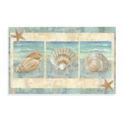 Home Dynamix/division Of Emerem,inc - Calm Chef Island Shell Kitchen Mat - Bring images of beautiful ocean waves and shells from the sea into your kitchen with this lovely mat. This multi-purpose, anti-fatigue floor mat is slip resistant, water repellant and has a non-skid back. Indoor use only.