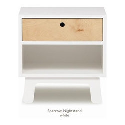 Oeuf Sparrow Nightstand - The Sparrow Night Stand by Oeuf, completes the Sparrow suite. Oeuf offers the Sparrow Nightstand as one of your child's first real pieces of furniture, and a perfectly matched addition to the set.