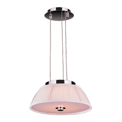 Worldwide Lighting - Alice LED Bulb Chrome Finish/White Shade Pendant Light - This stunning 5-Light LED Pendant Light only uses the best quality material and workmanship ensuring a beautiful heirloom quality piece. Features a radiant chrome finish and white shade for a simple yet sophisticated contemporary look to any room.