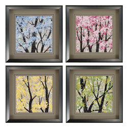 Paragon - Seasons PK/4 - Framed Art - Each product is custom made upon order so there might be small variations from the picture displayed. No two pieces are exactly alike.