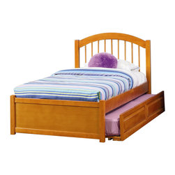 Atlantic Furniture - Atlantic Furniture Windsor Platform Bed with Flat Panel Footboard in Caramel Lat - Atlantic Furniture - Beds - AP9432007 - The Atlantic Furniture Windsor Platform Bed brings a smooth, romantic glow to your bedroom. The solid Asian hardwood construction of this frame ensures many years of peaceful rest. So get the rest you deserve with the Windsor Platform Bed.