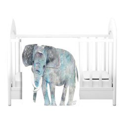 DiaNoche Designs - Throw Blanket Fleece - Elephant - Original Artwork printed to an ultra soft fleece Blanket for a unique look and feel of your living room couch or bedroom space.  DiaNoche Designs uses images from artists all over the world to create Illuminated art, Canvas Art, Sheets, Pillows, Duvets, Blankets and many other items that you can print to.  Every purchase supports an artist!