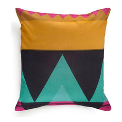 Mediterranean Colorful Pillow Cover - This pillow cover will add a marvelous touch of the Mediterranean to your interior. Crafted from the finest 100% Turkish cotton (that's the good stuff), it features a bold geometric pattern to conjure exotic fantasies.