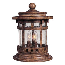 Maxim Lighting - Maxim Lighting 3132CDSE Santa Barbara Cast 3-Light Outdoor Deck Lantern - Santa Barbara Cast is a transitional style collection from Maxim Lighting International in Sienna finish with Seedy glass.
