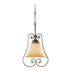 Sea Gull Lighting - Bronze Down Mini Pendant - This Down Mini Pendant has a Bronze Finish and is part of the Brandywine Collection.