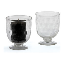 Go Home - Egg Hurricanes- Set Of 4 - Chic Egg Hurricanes made from hand-etched glass, this set can be used in a variety of decorative options add short candles for a unique lighting option for intimate moments, or fill with small trinkets, stones, and flowers for a personal home accent.