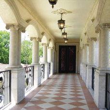 Mediterranean Porch by Dallas Design Group