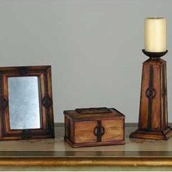 Meyda - Parker Poppy Gift Set Comfort Lighting - Color theme: Oak with Mahogany Bronze