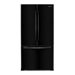 """Samsung - RF197ACBP 33"""" 17.8 cu. ft. Counter-Depth French Door Refrigerator with 3 Adjusta - The Samsung Appliance RF197AC 178 Cu Ft French door refrigerator in stainless steel keeps your food fresher longer with Twin Cooling technology Ice maker produces 4 lbs of ice per day Enjoy tremendous flexibility in food storage with large door bins ..."""