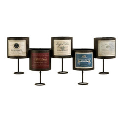 IMAX Worldwide Home - Menai 5 Bottle Wall Mounted Wine Holder - Material: 95% Wrought Iron, 5% Paper. 10.5 in. H x 20.5 in. W x 5.25 in. D. Weight: 2.55 lbs.The Menai five bottle wine holder wall mount is notched to perfectly preserve your ports and everyday wine indulgences to keep the corks moist.