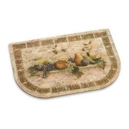 Mohawk - Tuscan Palette Cushioned Floor Mat - With a fruit arrangement against a stone-like background, this mat brings to mind a simpler life. Fatigued legs will be comforted with this cushioned mat that can be placed anywhere in a kitchen or laundry room.