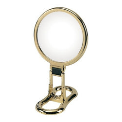 WS Bath Collections - Toeletta 398-3G Table Magnifying Mirror 3x in Gold - Toelleta 398-3G Table Magnifying Mirror in Gold