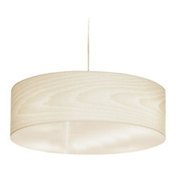 LZF - Gea Pendant by LZF - Crafted from sustainably harvested Spanish Poplar trees, the LZF Gea Pendant brings exotic warmth to the iconic drum shade. Featuring clean lines and a natural wood veneer shade that highlights the rich texture of the wood grain, a delicate atmosphere is created with its warm diffused light. Finished with a contemporary Nickel ceiling canopy, Gea is available in an extensive color palette of eleven colors. LZF Lighting from Spain, offers contemporary, designer lighting for residential and commercial interiors. Initially specializing in lighting crafted from wood veneers, LZF has expanded its product line to include other materials well-suited to contemporary styles.