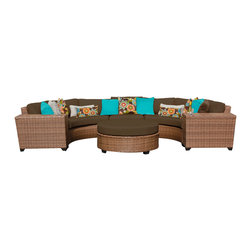 TKC - Tuscan 6 Piece Outdoor Wicker Patio Furniture Set 06c 2 for 1 Cover Set - Features: