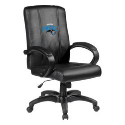 Dreamseat Inc. - Orlando Magic NBA Home Office Chair - Check out this Awesome - it's one of the coolest things we've ever seen. Features a zip-in-zip-out logo panel embroidered with 70,000 stitches. Converts from a solid color to custom-logo furniture in seconds - perfect for a shared or multi-purpose room. Root for several teams? Simply swap the panels out when the seasons change. This is a true statement piece that is perfect for your Man Cave or Home Office, and it's a must-have for the person who wants to personalize their work space.