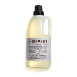 Mrs. Meyer's 2x Laundry Detergent - Lavender - 64 Oz - Mrs. Meyer's Clean Day Lavender Laundry Detergent liquid is one of our hardest working cleaners. It is concentrated, safe and gentle on clothes-yet it really packs a punch when it comes to removing dirt and grime. Contains Anionic Surfactants from plant-derived sources, Cotton Extract, Borax, dirt and stain-fighting enzymes, and of course, those important natural essential oils for a garden-fresh fragrance. Formulated for all washers including high-efficiency washing machines. Begin your laundry day by sorting clothes and linens. Check for stains and items left in pockets (candy wrappers, lunch tickets, coins, etc.). Next, select the right water temperature. Use HOT water for whites, colorfast pastels and light prints. Use WARM water for permanent press clothes and jeans. COLD water works best for bright colors and fabrics that tend to fade. Then add Laundry Detergent: 1/2 capful for an ordinary load, 3/4 capful for an extra-large or particularly filthy load of clothing. So easy! The formula is made from 97% naturally derived ingredients like orange peel oil and lavender oil.