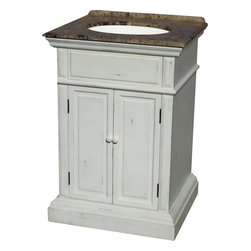 25 inch transitional single sink bathroom vanity the chesapeake 25