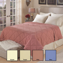 National Sleep Products - Year Round Down Alternative Microfiber Blanket - Slumber in plush comfort when you snuggle under this microfiber blanket fill with down alternative polyester materials. The blanket is available in four neutral colors and all standard bed sizes. It is stain resistant and machine washable.