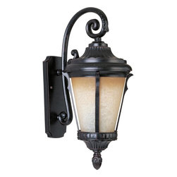 Maxim - Maxim Odessa EE One Light Latte Glass Espresso Wall Lantern - This One Light Wall Lantern is part of the Odessa Ee Collection and has Latte Glass and an Espresso Finish. It is Wet Rated, Outdoor Capable, and Energy Star Compliant.