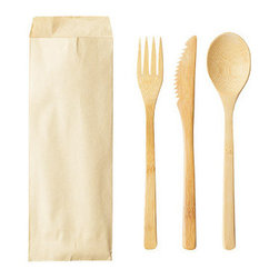 Bamboo Studio - Bamboo Studio Kraft Bag Utensil Set - Make big lunches and dinners a snap with this convenient set of bamboo utensils. Packaged in a natural kraft-color bag, the set is a simple way to distribute individual place settings. Better than plastic, the knife, fork and spoon are made from renewable, reusable bamboo so you and your guests can feel good about eating in style.