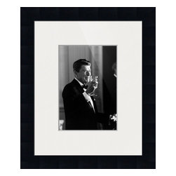 'Reagan: The Toast' Framed and Matted Print - Frame Color: Gallery Black