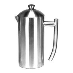 Frieling - Frieling 36-Ounce Polished Stainless French Press - Celebrate the pure flavor of coffee with our double wall insulated French Press which retain heat four times longer than a glass press. Made of 18/10 stainless steel, this press is extremely durable, built to stand the test of time.