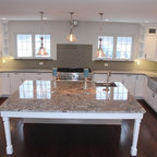Kitchens - Lennon granite island, natural stone from Levantina, install by Olympia Stone, kitchen island, natural stone