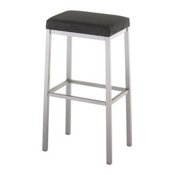 Amisco - Amisco Bradley Non Swivel Backless Stool 40038, 26 Inches (Counter Height) - *Non swivel seat