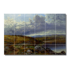 Picture-Tiles, LLC - A Solitary Lake Wales Tile Mural By Benjamin Leader - * MURAL SIZE: 32x48 inch tile mural using (24) 8x8 ceramic tiles-satin finish.