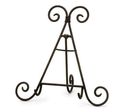 Easel/Plate Rack - In a very popular shape, this tabletop easel/plate rack is the perfect accent piece for displaying plates or small frames.
