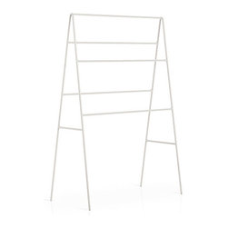 WS Bath Collections - Ranpin 5110 Free Standing Towel Rack in Painted Metal, White - Ranpin by WS Bath Collections, Free Standing Towel Stand, Available in White, Red, Brown, Orange, Pink or Dark Grey