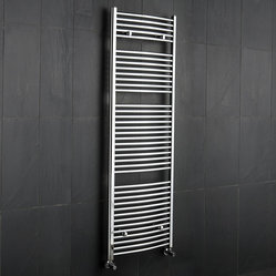 Flat Chrome Heated Bathroom Towel Rack 59 inch x 23.5 inch