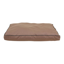 "Carolina Pet Company - Indoor/Outdoor Faux Gusset ""Jamison"" - Great for decks, patio's or dog houses.  These 100% polyester beds can handle all your outdoor activities.  Indoor or out, these beds are great for older incontinent pets too.  Hose down to clean, the water runs right through or machine wash.  UV protected to keep color from fading."