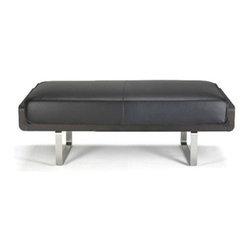 Kubikoff - Kubo Bench, Dark Blue Leather, Wenge - Kubo Bench