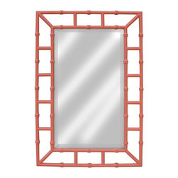 EuroLux Home - Painted Hardwood Island Mirror, Pink - Product Details