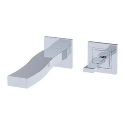 """fluid - fluid Viola - Single Lever Wall Mount Lavatory Faucet Trim Set - Nature, art and architecture; each fluid(TM) faucet design makes a subtle connection to the influences of our environment. The fine craftsmanship and attention to detail make a unique statement about the care and extra time we dedicate to every fixture. The meticulous curves, unique angles and mirror-like polished surfaces of fluid(TM) faucets are unmatched. fluid(TM) faucets have the heft and mechanical action that exudes the quality and integrity of the materials we use. While others substitute plastic, we continue to use brass to ensure our lifetime warranty means something - and that is good for the environment.Features Heavy brass construction for durability and reliability Kerox ceramic cartridge ensures life long trouble free service Single lever handle operation allows both volume and temperature control Max-temperature limit stop for added safety SSi Eco-Care pivot aerator 1.5 gpm (5.7 lpm) at 60 psi SSi """"Smart Connector"""" for an easy spout installation Available waste pop-up drain Must be used together with the valve body F3100B for horizontal installation or with F3101B for vertical installation Used as wall mounted tub filler when flow straightener is used in lieu of aerator (F12008T-S with flow straightener) ADA Compliant EPA WaterSense listed (pending) AB1953 California Lead Plumbing Law Certified (pending) Codes and Standards • ANSI/ASME A112.18.1 • CSA B125.1 • NSF61-9 • ADA • IAPMO / cUPC Listed (pending) Limited Lifetime Faucet Warranty against material and manufacturing defects for residential use View Spec Sheet"""