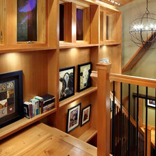 Eclectic Staircase by Fiddlehead Design Group, LLC