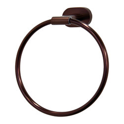 Vigo - Ovando Round Design Hand Towel Ring in Oil Rubbed Bronze - The VIGO Ovando Round Design Hand Towel Ring in Brushed Nickel will allow you to easily keep a towel within reach.