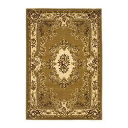"""Kas Rugs - Area Rug: Aubusson Beige/Ivory 2' 3"""" x 3' 3"""" - Shop for Flooring at The Home Depot. This series uses heat-set yarns and hand carved with specific attention to detail. This line features classic Aubusson floral patterns, a look usually found only in traditional hand knotted collections. This timeless classic has been designed with today's colors in mind, bringing a beautiful blend of yesterday and today in your home."""