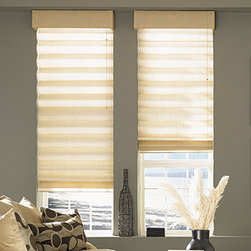 Bali - Bali Casual Classics Roman Shades: Satin & Satin Stripe - The room darkening Satin & Satin Stripe fabric features basic solid tones.  Casual Classics Roman shades offer the softness of a drapery with the practicality of a shade.