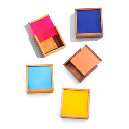 Nunabee Square Color Chip Box - Keep trinkets safe in these cheerful little boxes.
